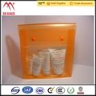 Produtos de qualidade pvc transparente cosméticos saco limpar pvc saco zipper