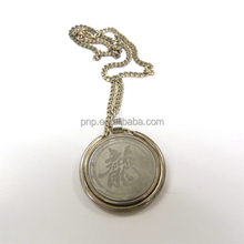 high quality custom logo antique zinc alloy necklace