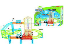 Children's puzzle toy track car,Electronic Game For Child