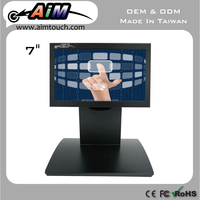 7 inch 5:3 Desktop advertising 800x480 Resistive Touch Screen Monitor