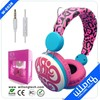 colorful leopard spotted headphone with customized logo