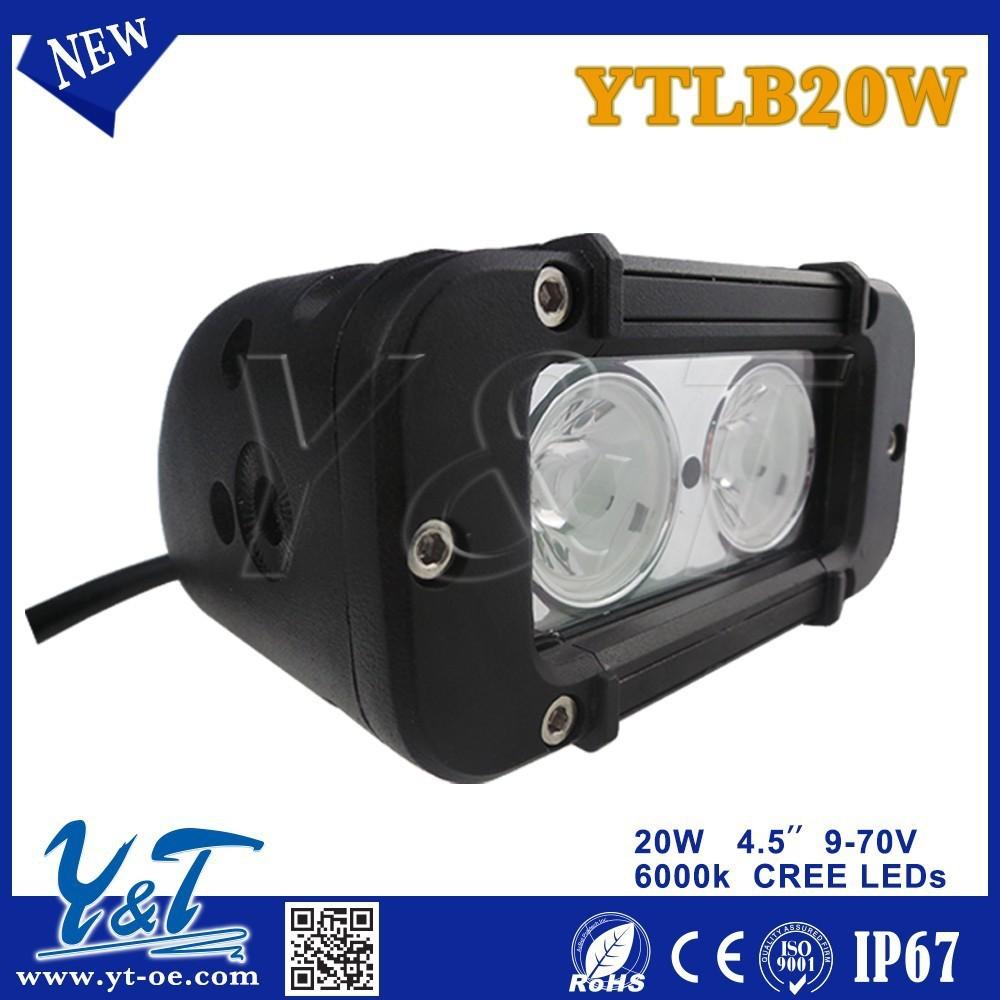 20w 4.6 inç kavisli led çalışma ışığı bar nokta sel combo ışın offroad 4wd atv UTV kamyon römork 4x4 araba sürüş ışık led