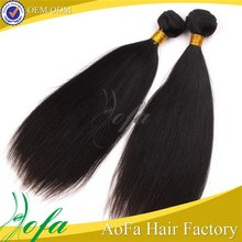 indian remy gray hair temple machine weft hair
