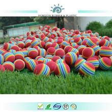 Colorized EVA rainbow golf ball made in ningbo horizon