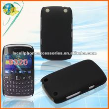 Rear Back Cover For BlackBerry Curve 9220/9320 Hard Snap-On Black Plastic Case