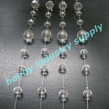 Faceted surface clear color crystal bead chain curtain
