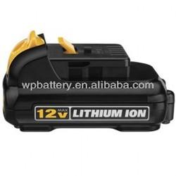 Dewalt 12V 1.5Ah Li-ion battery replacement for dewalt DC907, DE9037, DE9071,DE9072,DE9074,DE9075,DE9501,DW9071,DW9072