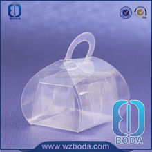 handled tin lunch box with pvc window for food canning