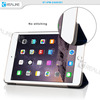 with transparent back cover leather protective case for ipad mini 3