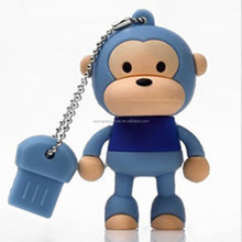 E-co friendly portable carton character usb flash drive for best gift