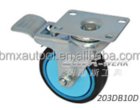 Silent Rubber Caster with Dual Brake