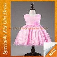 Pink baby frocks dresses for girls of 11 years old SFUBD-1086
