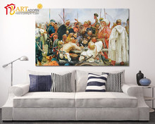 Novelty wall decorative a group of western soldiers canvas art oil painting