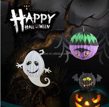Folded Spider Bats Ghost hanging lanterns Halloween decoration supplies