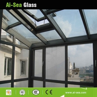 Clear Insulated Glass Sunroom Hollow Tempered Glass Roof