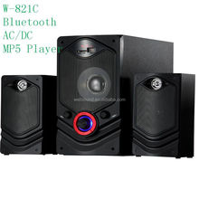 multimedia 2.0 channel micro hifi system with USB/SD/FM/2MIC/REMOTE CONTROL/LED DISPLAY