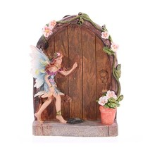 Resin Enchanted Fairy Door Figure Garden Ornament Gift