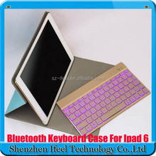Folio keyboard case for iPad Air 2 With Light Keyboard 7 colors available