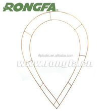 Wholesale 2 coils metal wire wreath rings