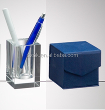 Customized cubic colorful pen and pencil box display with lids