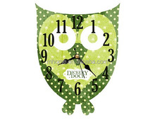 New design owl style home decotive wooden wall clock