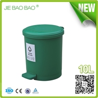 High Quality round dustbin logo Pedal Operated hotel article waste container hotel room usage 10L For Ladies Toilet