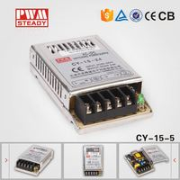 wide range CY-15-5 mini smps led power supply ,15w 5v slim smps , switching power supply