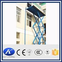 Stationary hydraulic car lifting platform, hydraulic table lifting mechanism