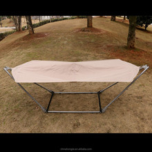 Outdoor camping polyester hammock with metal frame