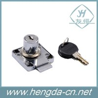 chrome plated zinc alloy office desk drawer lock