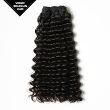 100% no vertimiento y libre de enredos de pelo remy extensión virgen cabello humano brasileña