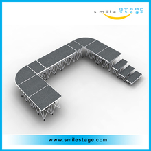 Aluminum plywood portable stage, mobile stage