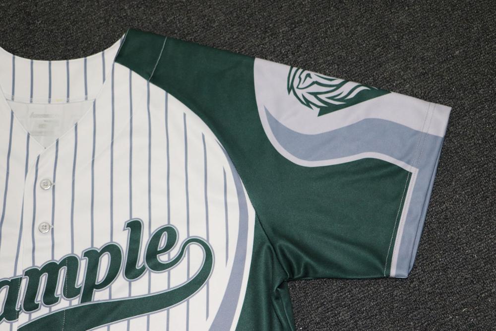 2017 Hot Sale Dry Fit Fashion Striped Men Baseball Jersey