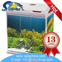 Floating glass view aquarium with high quality
