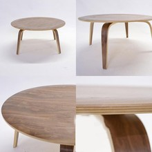 natural color wood side table cross legs new product wood coffee table