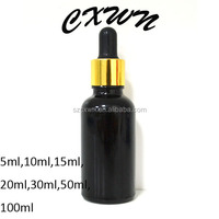 free samples! Alibaba china 20ml E-liquid black glass bottles, child proof and tamper proof glass bottle, e-liquids glass bottle