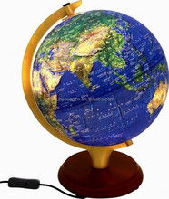 32CM Arched Light Globe with wooden base(Satellite Edition)