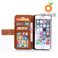 Small MOQ stock flip leather cover wallet waterproof phone case for Iphone 6S