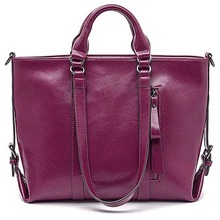GL485 new style simple fashion purple leather tote famous bags