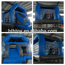 Frozen inflatable castle with slide for kids trampoline park