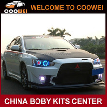 High quality PU material fighting style bodykit(front bumer/lip/rear bumper) for mitsubishi