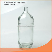 Quality classical 1.5l glass ginseng wine bottle