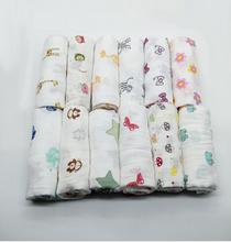 100% cotton gauze muslin baby swaddle blanket