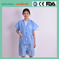 Medical consumables PP/SMS non-woven disposable spa gown