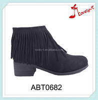 Foot comfort girls zipper low heel ankle boots design your own boots with tassels
