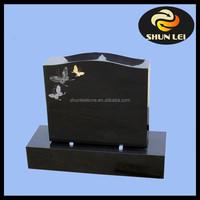 Cheap black granite monument canada headstone