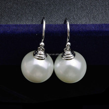 E7021071R Popular Elegant Zircon Peal Earring 925 Sterling Silver Plated Platinum With Austria crystal Fashion Jewelry Wholesale