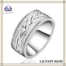 2015 Elegant Jewelry Factory Photo Jewelry Wholesale Silver New Model Wedding Finger Ring