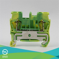 spring cage terminal blocks ul /electric cable connectors free sample JUT3-1.5PE earthing terminal blocks ul vde