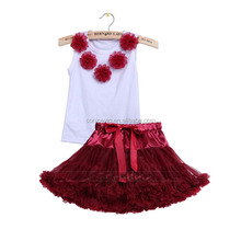 Summer sleeveless baby girl clothing gift 2 piece skirt sets halloween pettiskirt clothing outfits for infant girls